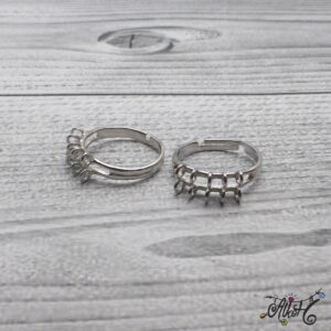 Platinum színű gyűrű alap – hurkos