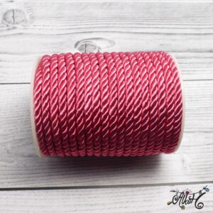 Selyemfényű sodrott zsinór – pink, 5mm
