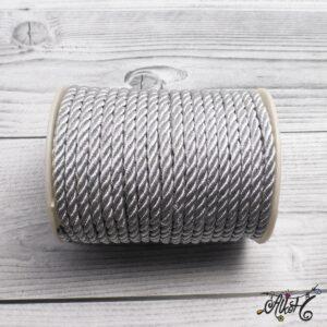 Selyemfényű sodrott zsinór – ezüst, 5mm