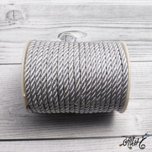 Selyemfényű sodrott zsinór - ezüst, 5mm 4