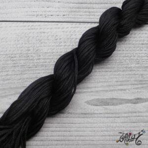 Selyemfényű zsinór – fekete