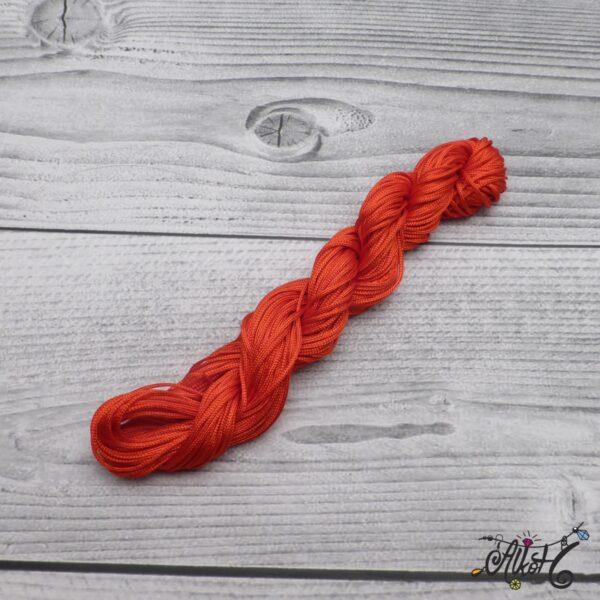 Selyemfényű zsinór - élénk piros 4