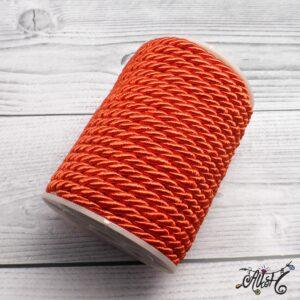 Selyemfényű sodrott zsinór – piros, 5mm
