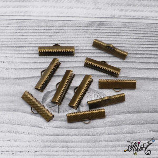 Antik bronz szalagvég - 25x8mm 3