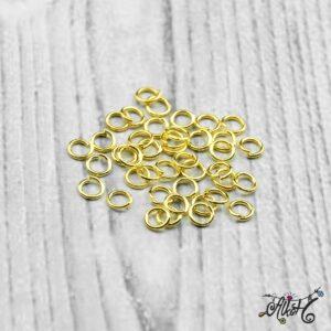 Szerelőkarika szimpla – arany 4 mm
