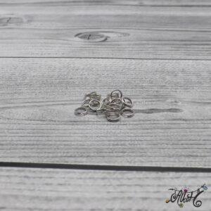 Szerelőkarika dupla – platinum 6 mm