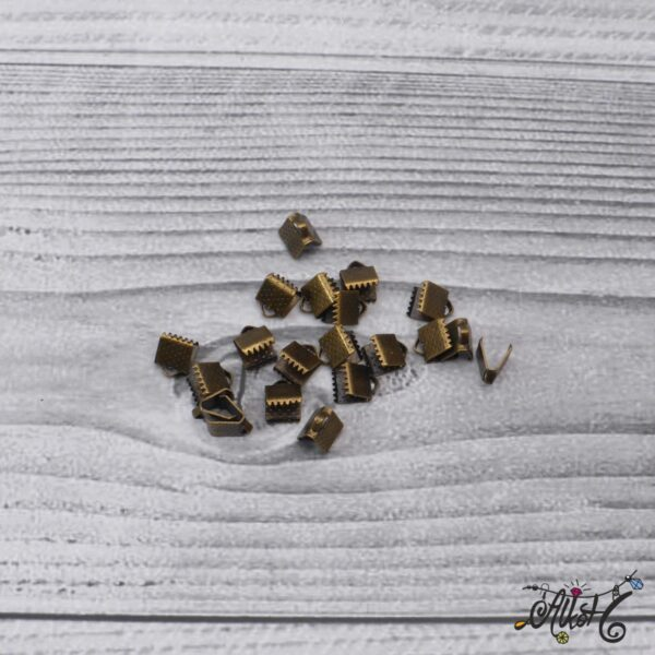 Antik bronz szalagvég - 8x6mm 3