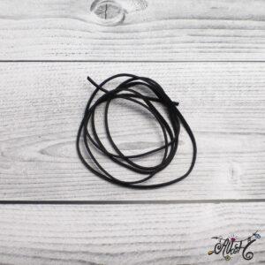 Velúr hatású szál – fekete