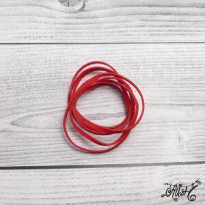 Velúr hatású szál – piros