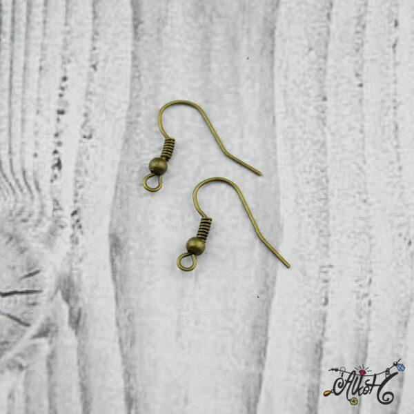 Fülbevaló akasztó - antik bronz színű (20db) 4