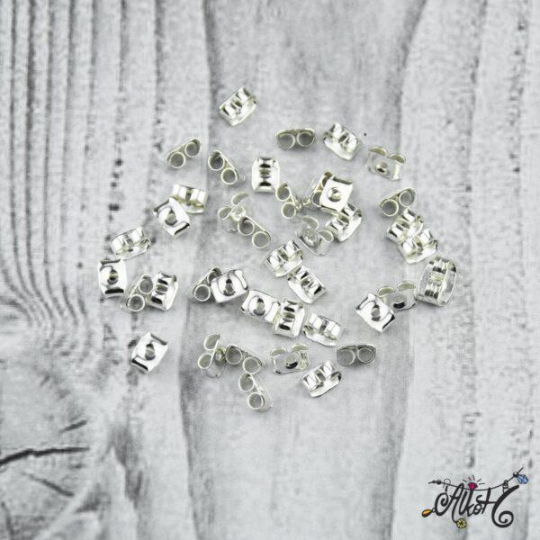 Fülbevaló rögzítő – ezüst (10 db) 3