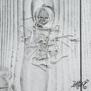 Fülbevaló akasztó – ezüst színű (20db)