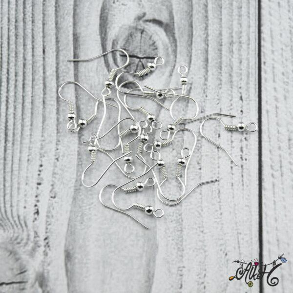 Fülbevaló akasztó - ezüst színű (20db) 2