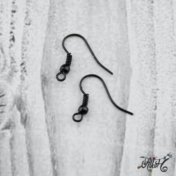 Fülbevaló akasztó - fekete színű (20db) 4