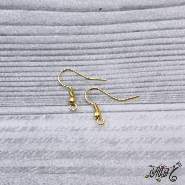 Fülbevaló akasztó - arany színű (20db) 4