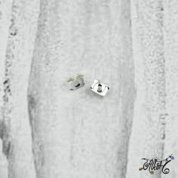 Fülbevaló rögzítő – ezüst (10 db) 4