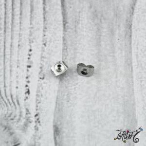 Fülbevaló rögzítő – nemesacél (10 db)
