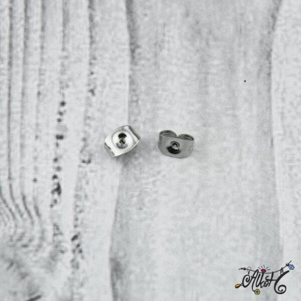 Fülbevaló rögzítő – nemesacél (10 db) 4