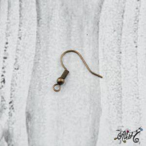 Fülbevaló akasztó – vörösréz színű (20db)