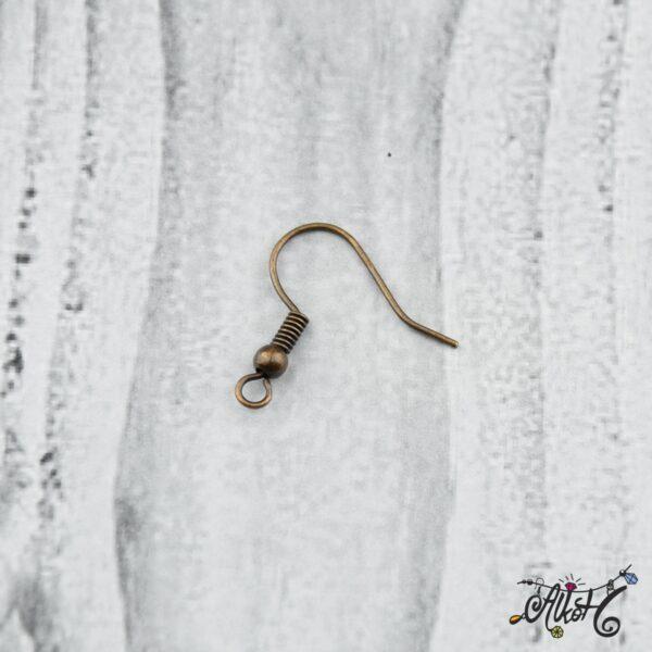 Fülbevaló akasztó - vörösréz színű (20db) 4