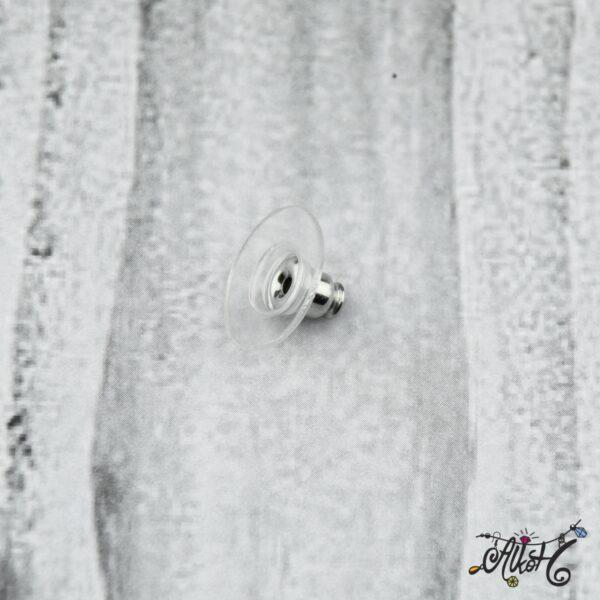 Fülbevaló rögzítő - platinum (1 db) 5