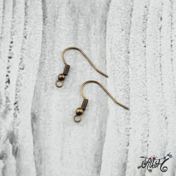 Fülbevaló akasztó - vörösréz színű (20db) 5