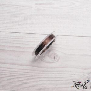 Színes tigrisbajusz 0,38mm – barna (10m)