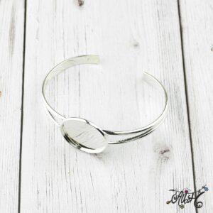 Ezüst színű merev karkötő alap