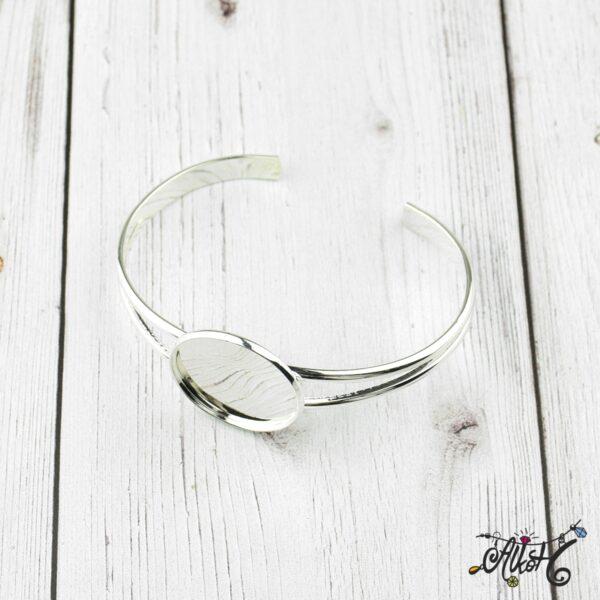 Ezüst színű merev karkötő alap 2