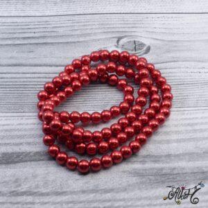 Viaszgyöngy – élénk piros, 8mm