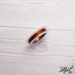 Színes tigrisbajusz 0,38mm – vörösréz (10m)