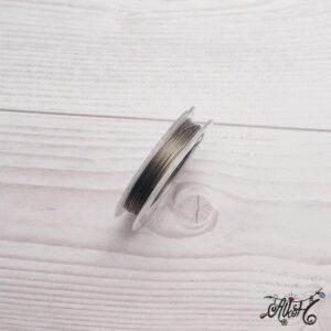 Színes tigrisbajusz 0,38mm – szürke (10m)