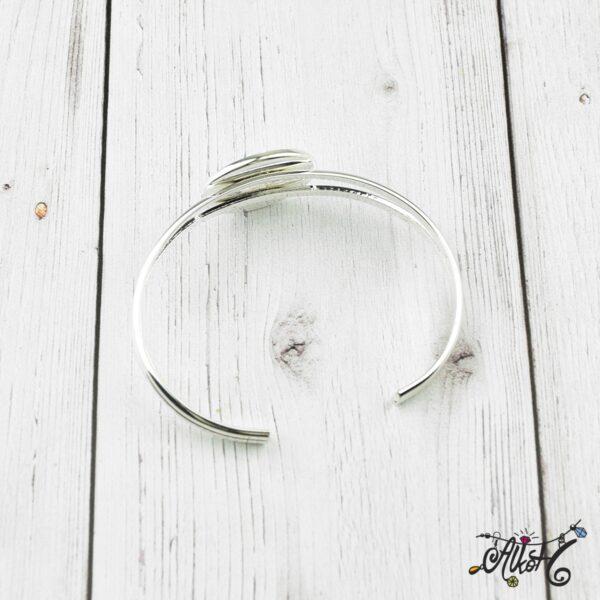 Ezüst színű merev karkötő alap 3