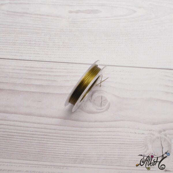 Színes tigrisbajusz 0,38mm - oliva (10m) 2