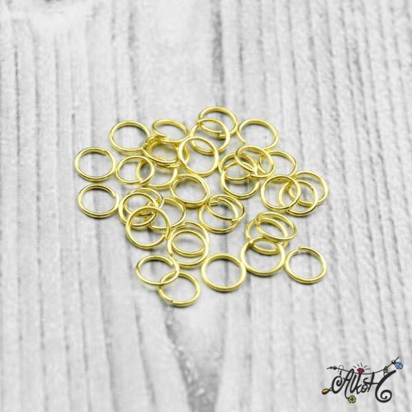 Szerelőkarika szimpla - arany 6 mm 4