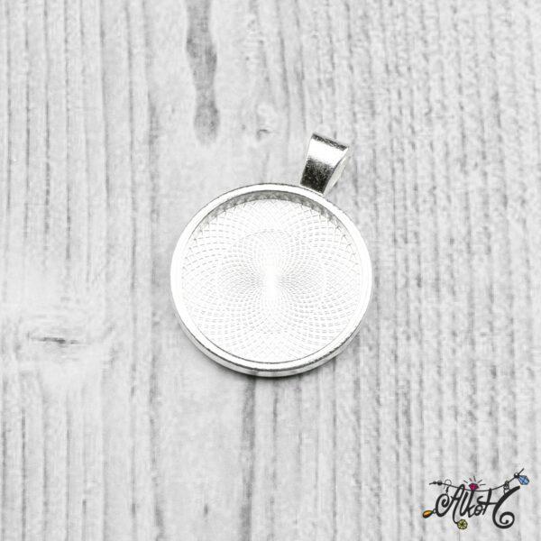 Ezüst színű medál alap - 25,5mm 3