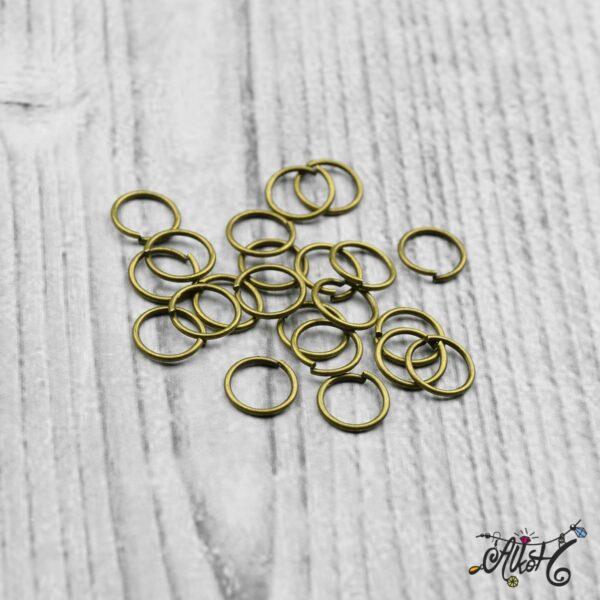 Szerelőkarika szimpla - antik bronz 8 mm 4