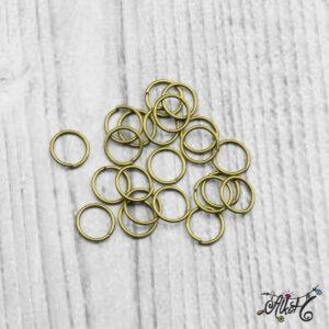 Szerelőkarika szimpla – antik bronz 8 mm