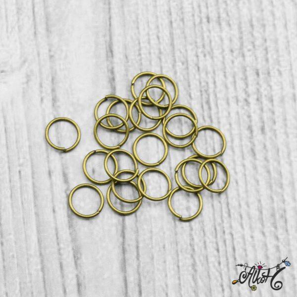 Szerelőkarika szimpla - antik bronz 8 mm 3
