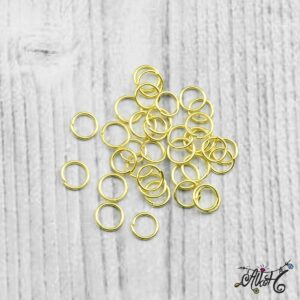 Szerelőkarika szimpla – arany 6 mm (20db)
