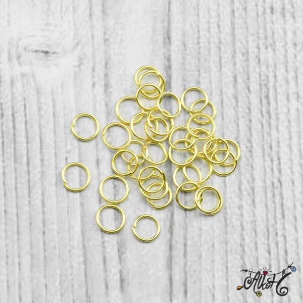 Szerelőkarika szimpla - arany 6 mm 3