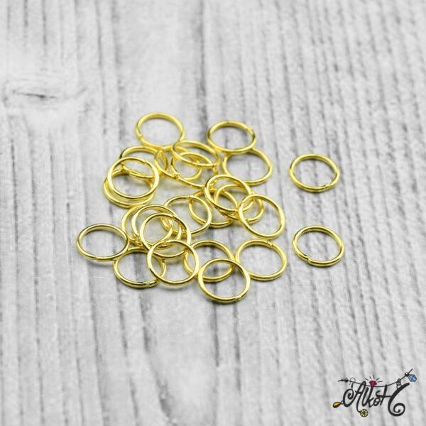 Szerelőkarika szimpla - arany 8 mm (20db) 3