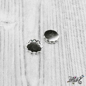 """Medál alap """"hullámos"""" – ezüst, 18mm"""