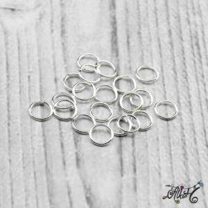 Szerelőkarika szimpla – ezüst 6 mm (20 db)