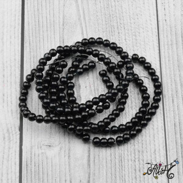 Viaszgyöngy - fekete, 6mm 3