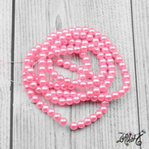 Viaszgyöngy – erős rózsaszín, 6mm