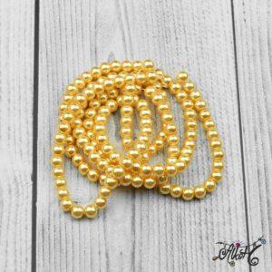 Viaszgyöngy – napsárga, 6mm