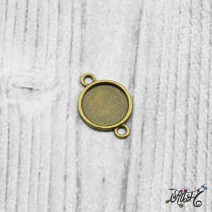 Összekötő medál alap – antik bronz (12 mm)