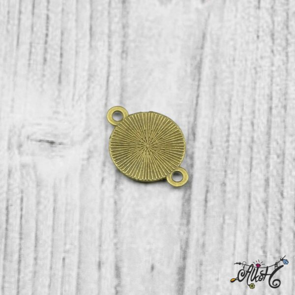 Összekötő medál alap - antik bronz (12 mm) 5