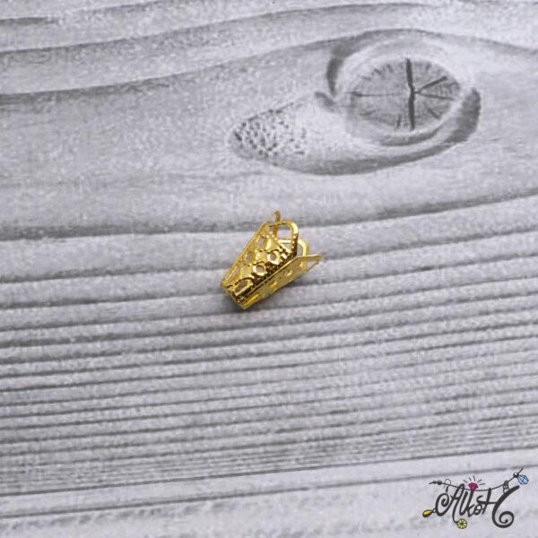 Kúpos gyöngykupak, végzáró - arany 4